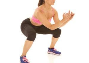 squat fessier ecart de pied